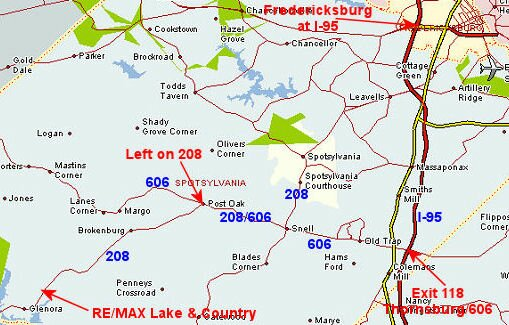 Directions To Lake Anna Virginia And Re Max Lake Country